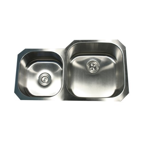 Nantucket Sinks NS3520-R-16 35-Inch Double Bowl Undermount Stainless Steel Kitchen Sink by Nantucket Sinks by Nantucket Sinks