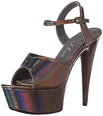 Ellie Shoes Women's 609-LOLA Heeled Sandal Pewter 5 Medium US