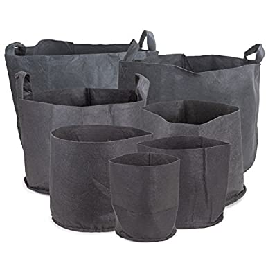 247Garden Aeration Fabric Pots/Plant Grow Bags w/Handles (Multi-Pack)