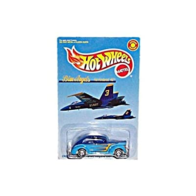 Hot Wheels - Special Limited Edition - M&D Toys - Blue Angels Series - #2 in Series - Fat Fendered '40 (Dark Blue/Light Blue Colors w/Graphics): Toys & Games