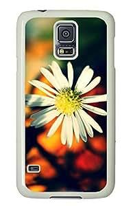 White Daisy Petals-Wallpaper White Hard Case Cover Skin For Samsung Galaxy S5 I9600