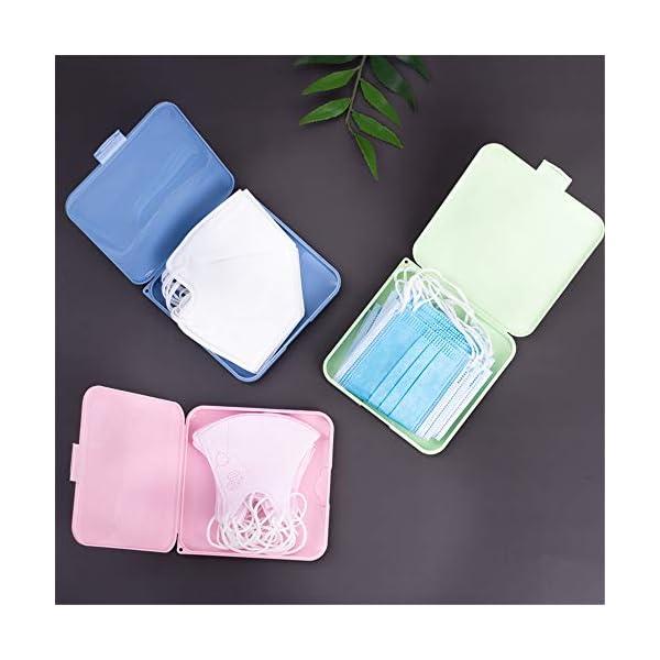 4 pezzi bianco rosa 4 pezzi copertura del viso scatola di plastica portatile copertura del viso contenitore contenitore caso antipolvere copertura del viso blu verde