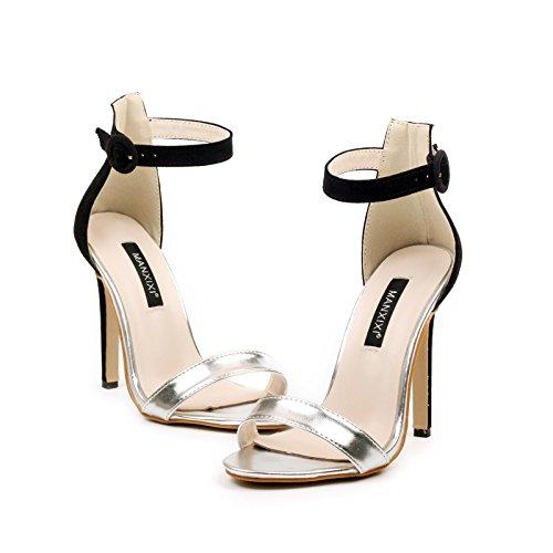 Meeshine - Strap alla caviglia da ragazza' donna , argento (Silver), 35.5