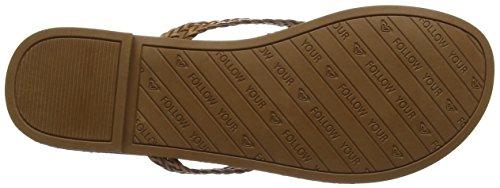 Roxy Carmen - Sandalias de dedo Mujer Marrón (Chocolate)