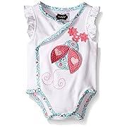 Mud Pie Baby Girl One Piece Crawler Bodysuit, White, 0-3 Months