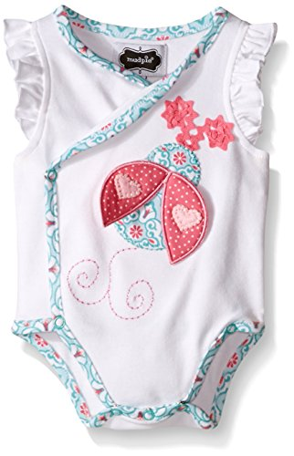 Pie Onesie (Mud Pie Baby Girl One Piece Crawler Bodysuit, White, 3-6)