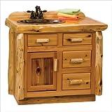 Fireside Lodge Furniture 33030 Cedar Left Sink Vanity without Top, 3'