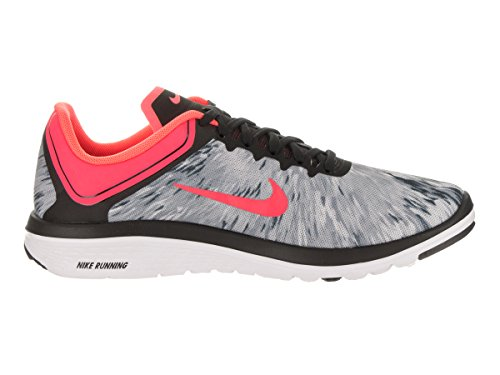 Nike Dames Fs Lite Run 4 Prem Running Schoen Wolf Grijs / Hot Punch Black