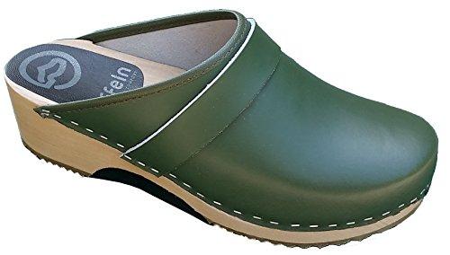 Toffeln - Sabots en cuir - semelle hêtre - Toffeln 310 - Vert - 35