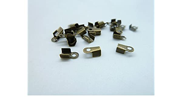 25mm Ribbon end Clasps end caps Findings Cord Ends Copper Crimp Ends 14 Pieces per lot Nickel CK21 1 inch