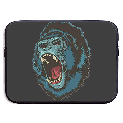 EYFlife Angry Gorilla Ape Roar Portable Laptop Sleeve 13 Inch 15 Inch Water-Resistant Computer -