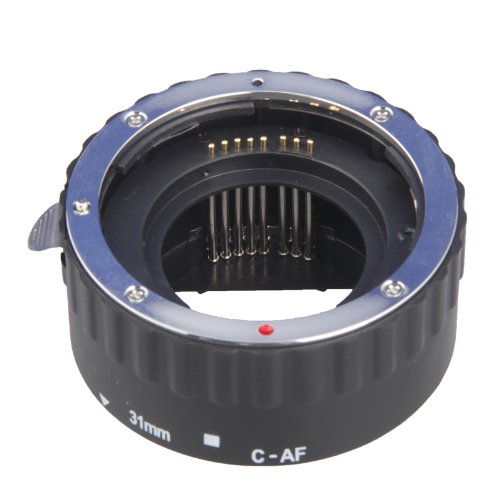 Kaavie - The Premium Copper Mount Version Auto Focus and TTL Macro Extension Tube Set Adapter Fit for Canon Ef Ef-s Lens 3pcs-13mm 21mm 31mm - Canon EOS Canon EOS 1d C, 1d X, 1d Mark I-iv, I-1ds Mark Iii, 5d Mark I-iii, 6d 7d 60d 50d 40d 30d 20d 10d 1100d 1000d 650d 600d 550d 500d