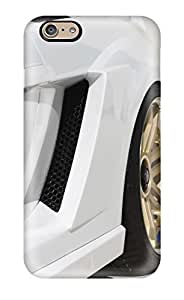 Fashionable Style Case Cover Skin For Iphone 6- Imsa Gallardo Side Vent White Luxury Super Car Cars Lamborghini wangjiang maoyi