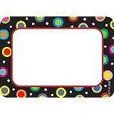 Creative Teaching Press - Etiquetas para nombre (diseño de lunares), color negro