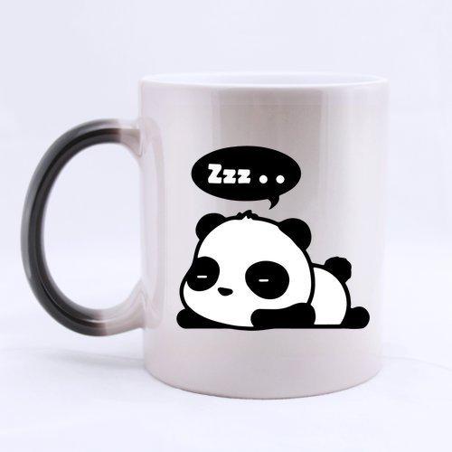 Ceramic Morphing Mug - Love Panda Custom Heat Color Changing Mug Magic Coffee/Tea Mug (11 Oz) Best Gifts (Panda Face Mug)