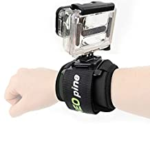 First2savvv GO-SD360-01 black 360 Degree Rotating padded hand strap Wrist Mount for GoPro HERO Cameras Hero 6 5 4 3+ Hero3 Hero 2 GoPro 1