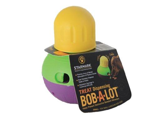 Juguete interactivo para perros StarMark Bob-A-Lot, pequeño