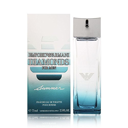 Giorgio Armani Emporio Armani Diamonds Summer Eau de Toilette Spray for Men, 2.5 Ounce