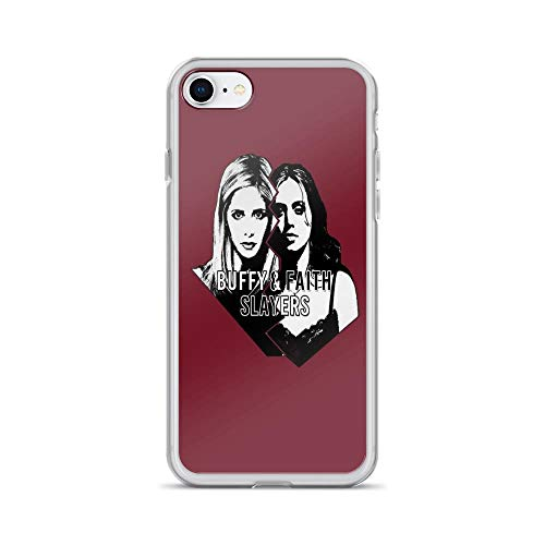 iPhone 7 Case iPhone 8 Case Clear Anti-Scratch Buffy, Buffy & Faith: Slayers Cover Phone Cases for iPhone 7/iPhone 8, Crystal Clear