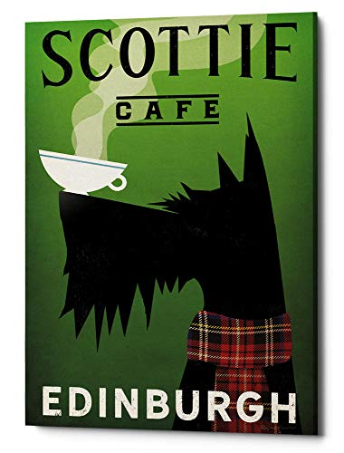 Epic Graffiti 'Scottie Cafe' by Ryan Fowler Giclee Canvas Wall Art 40