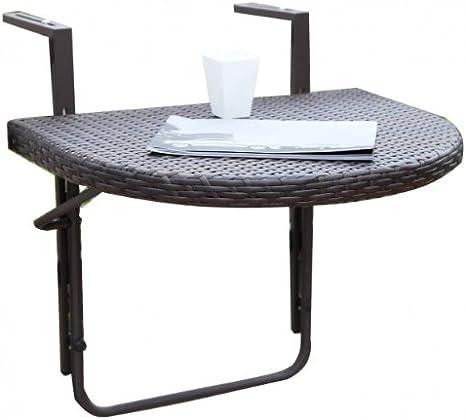 Mesa colgante para balcón, mesa plegable Malla de plástico para s ...