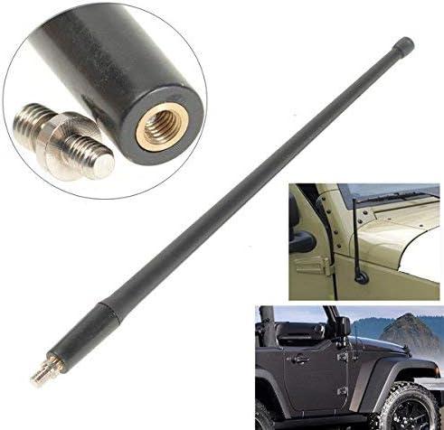 C-FUNN Negro 13 Pulgadas FM Am Señal Antena Aérea para Jeep Wrangler Jk 07-16