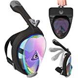 Aleoron - Foldable Full Face Snorkel Mask for Adults and Youth (Women & Men) - Anti Fog Snorkeling Mask Full Face with…