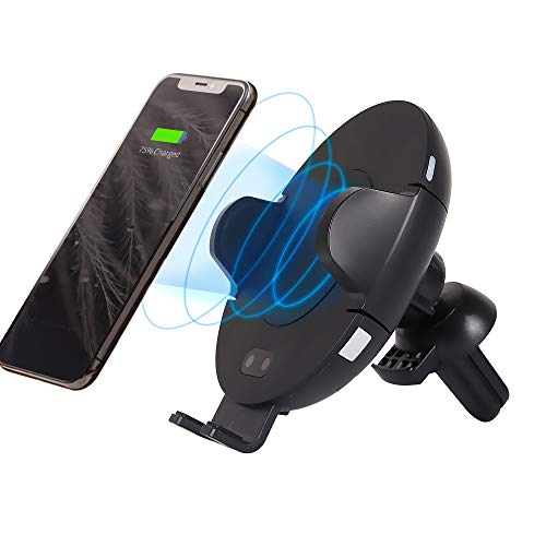 Automatic Qi Car Wireless Charger Mount,FIRBELY Fast Charger Infrared Air Vent Phone Holder for iPhone X,8/8 Plus Samsung Galaxy S9,S8/S8 Plus,S7/S7 Edge, Note 9 8 5,Qi Enabled Device