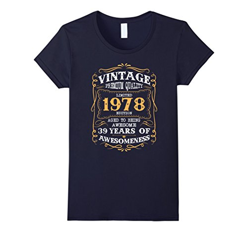 womens-vintage-born-in-1978-39th-birthday-t-shirt-39-years-old-medium-navy
