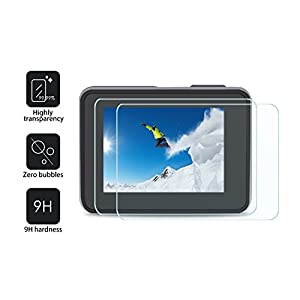 [6pcs] Deyard Ultra Clear Tempered Glass Screen Protector for GoPro Hero (2018)/Hero 5/Hero 6 with Lens Protector and Lens Cap Cover for Action Camera