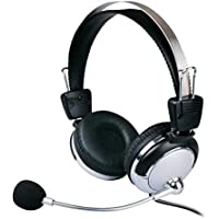 Fone de ouvido com microfone e ajuste de volume - Weile WL-301MV - 105DB - Para Lan House