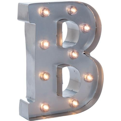 Darice Silver Metal Marquee Letter 9.875