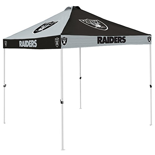 Logo Brands NFL Oakland Raiders Checkerboard Tent Checkerboard Tent, Charcoal, One (Raiders Canopy)