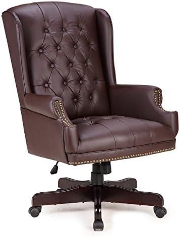 Belleze Executive Wingback Computer Leather