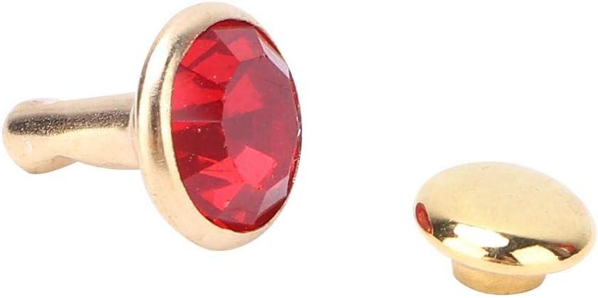 50 St/ück Strass Ohrstecker Gold Kristall Nieten Strass Diamant Spikes Nieten f/ür Leder//G/ürtel//Handtasche Leder Dekoration