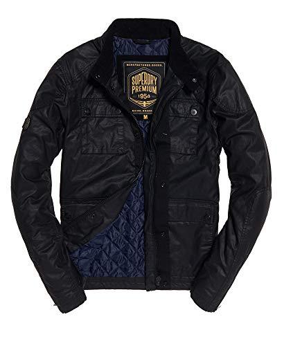 Superdry Mens Rotor Jacket Black S (Superdry Mens Leather Jacket)