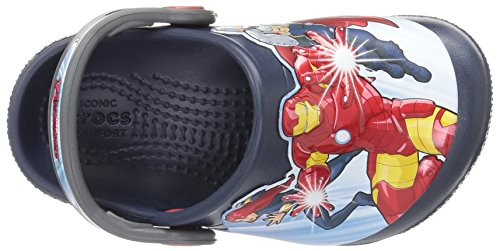 Crocs Boys' FL Avengers Multi K Clog, Navy, 11 M US Little Kid by Crocs (Image #6)