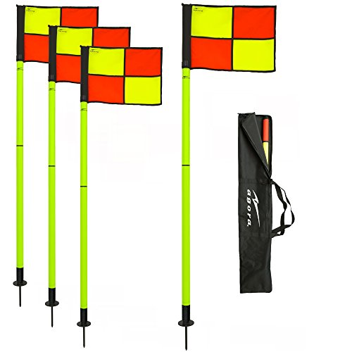 AGORA Portable Pro Line Corner Flags - Set of 4
