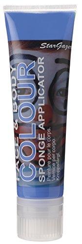 Body Paint Avatar Costume (Stargazer Face & Body Colour Paint Sponge Applicator - Blue 100ml)