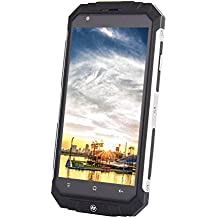 """Padcod Unlocked Smartphone,5"""" Display,2G/3G Network with Wi-Fi and Bluetooth,MTK6580 Quad-Core Processor,8GB ROM Android 5.1 Dual Micro SIM Slot 3500mAh Rugged water and Shock Resistant Smartphone"""