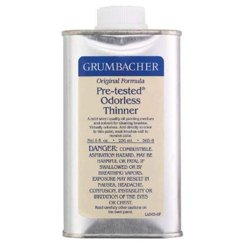 Grumbacher Pre-tested Odorless Thinner, 8-Oz. Can, #5658