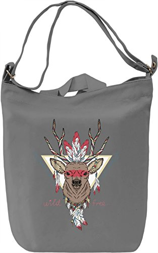 Indian deer Borsa Giornaliera Canvas Canvas Day Bag| 100% Premium Cotton Canvas| DTG Printing|