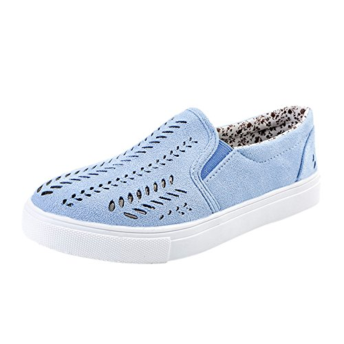 WEUIE Women's Slip-on Loafers Flat Casual Driving Shoes Ladies Breathable Hollow Out Sneakers Walking Flats