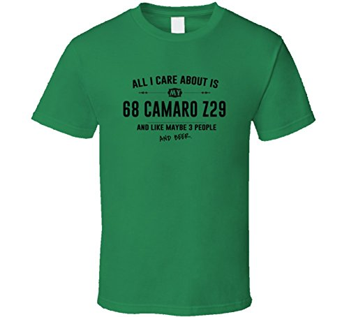 CarGeekTees.com All I Care About is My 68 Camaro Z29 and Beer Funny T Shirt 2XL Irish Green (Camaro Z29 compare prices)