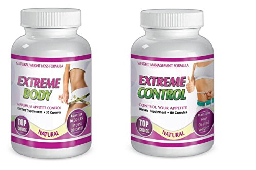 SliMax Extreme Control and Body Dietary supplements total of 90 Capsules Dietary supplement for 30 days, Control Your Appetite, Maximum Appetite All Natural by SliMaxUSA