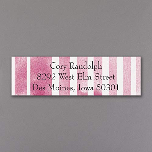 1935pk Watercolor Stripes - Address Label-Address Labels & Icing (Label Big Stripes Address)
