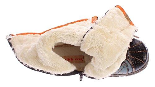 TMA Damen Leder Winter Comfort Stiefel Gefüttert Echt Leder Schuhe 7086 Viele Farben