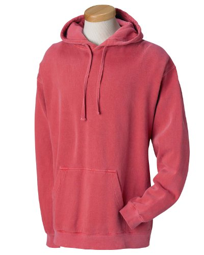 Garment Dyed Pullover Hood (Comfort Colors 9.5 oz. Garment-Dyed Pullover Hood - CRIMSON - 2XL)