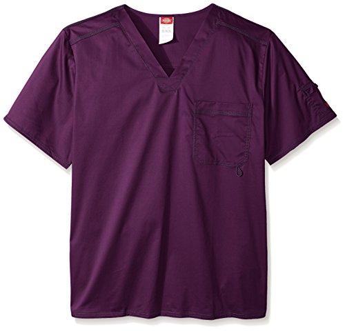 - Dickies Men's Big and Tall Generation Flex Utility Scrubs V-Neck Shirt, Eggplant, XXX-Large