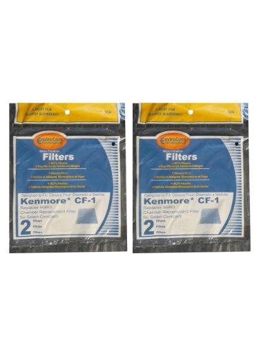 (Kenmore Sears Progressive Foam Filter CF1, Progressive & Whispertone, Panasonic Vacuum Cleaners, 86883, 86880, 20-86883, 2086883, 8175084 (4 Filters))